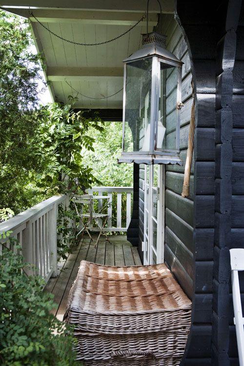 love this exterior paint color. veranda from a house from Danish KML design. Photograph: Stuart McIntyre