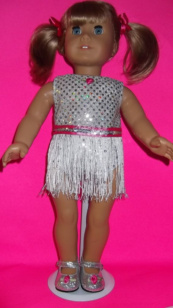 American Girl Doll Clothes  Silver Dance Recital by susiestitchit, $18.50