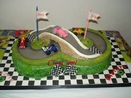 Resultado de imagen para tortas de pistas de autos