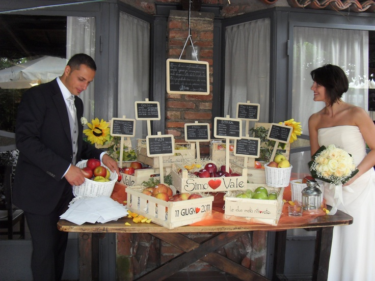 Tableau marriage with the newlyweds by M. Altomare Sauchelli