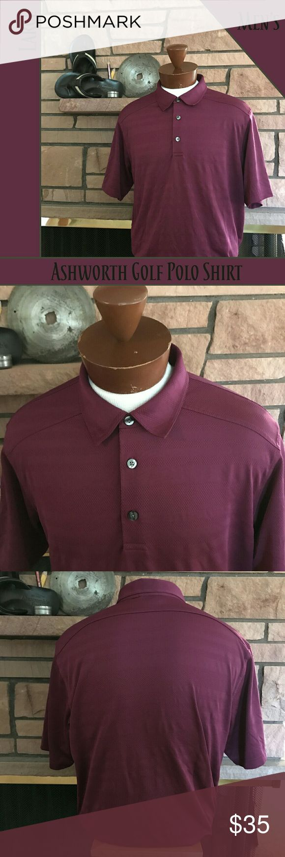 🍇 Men's Ashworth Golf Shirt This Ashworth golf polo shirt will look great on you both on and off the links. It is in EUC and ready to join your wardrobe.   From a smoke-free and happy-to-bundle closet.   No trades or transactions outside of Poshmark.  [T458] Ashworth Shirts Polos
