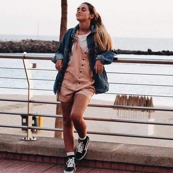 UOonYou via @carlotaweberm | BDG Andy Button-Front Tie-Strap Dungarees | Women | Dresses | Playsuits & Jumpsuits | Urban Outfitters #UOonYou #UrbanOutfitters #UOEurope