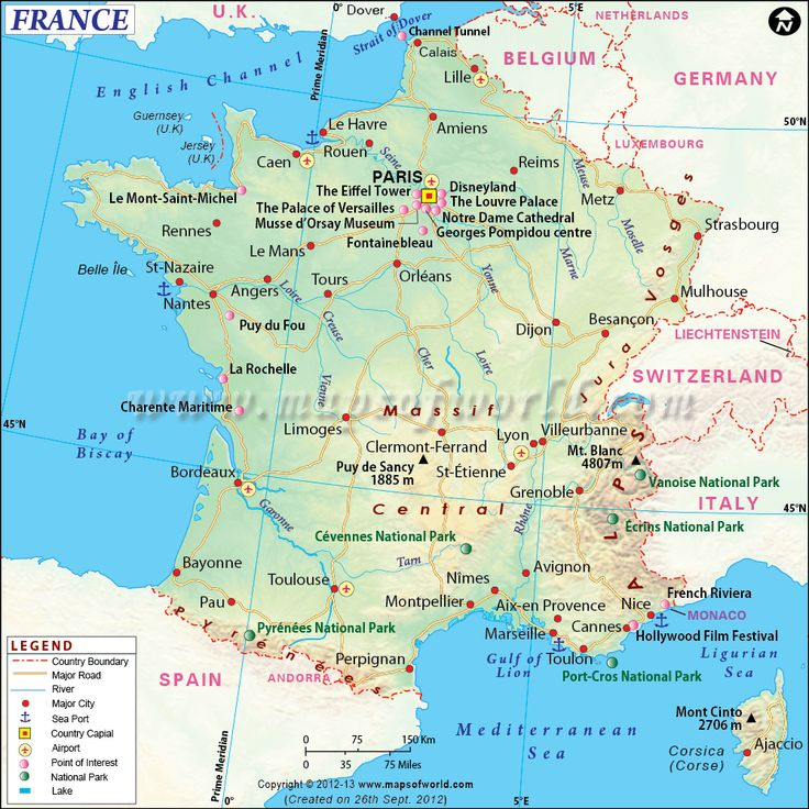 40 best country maps images on pinterest country maps world map of france shows roads airports national capital major cities sciox Images
