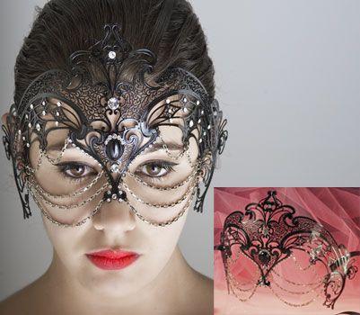 Venetian mask in metal Swarovaski from Atelier Marega. venice mask venetian masks, hand made in Venice, handmade  mask, handmade mask, Italian masks, Italian mask, mask italia visit our web site www.marega.it