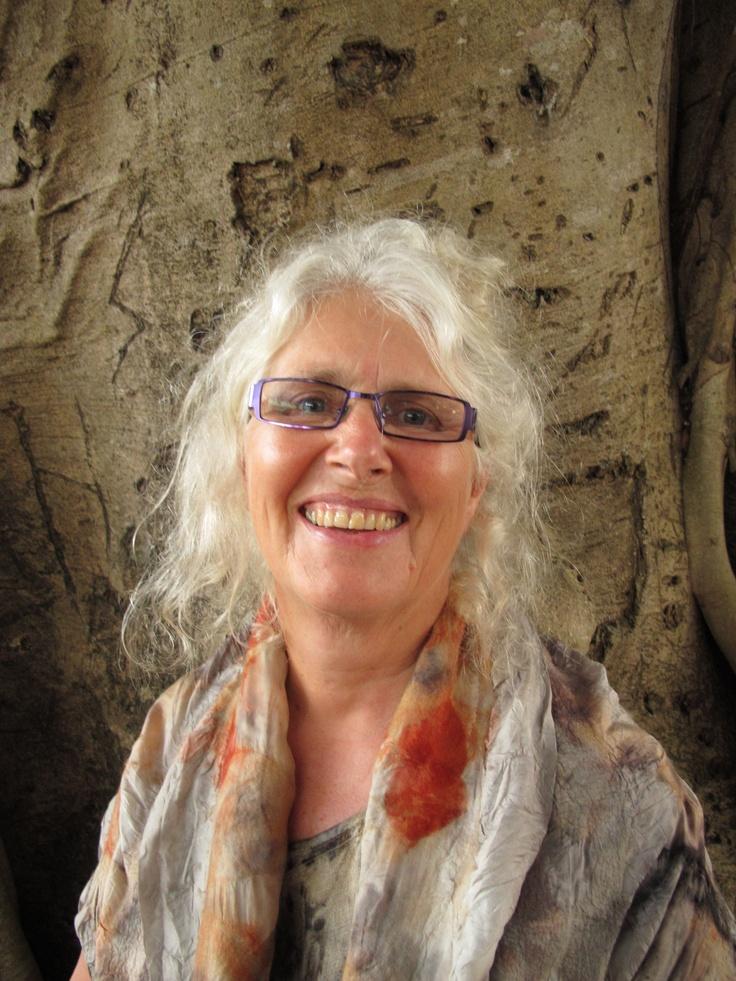 Creator of all this gorgeous eucalyptus wearable art - Susan Fell Mclean