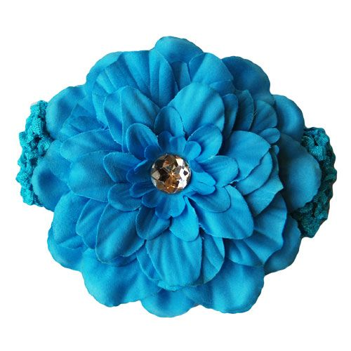 Stunning soft & stretchy crochet headbands with a gorgeous gem-centred flower - so amazing for photos! A beautiful accent to any outfit, for every little princess! Soft and stretchy - will fit newborn up to teen!