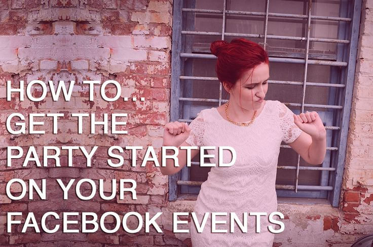 How to Get The Party Started on your Facebook Events!! Love this from Chelsey Marie. #podcast #branding
