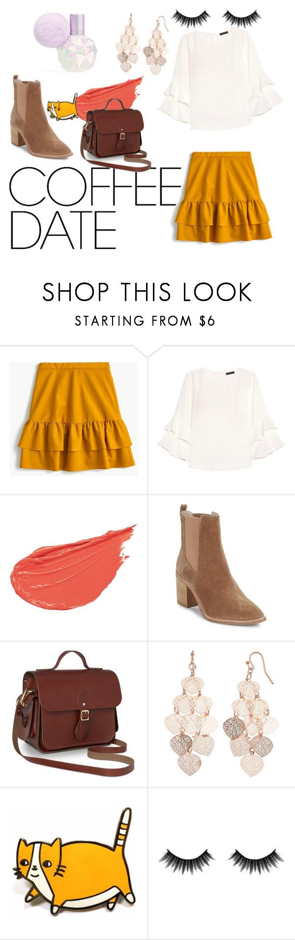 """""""Just a quick last minute look"""" by meliflare ❤ liked on Polyvore featuring J.Crew, Kenneth Cole, LC Lauren Conrad, Morphe and CoffeeDate"""