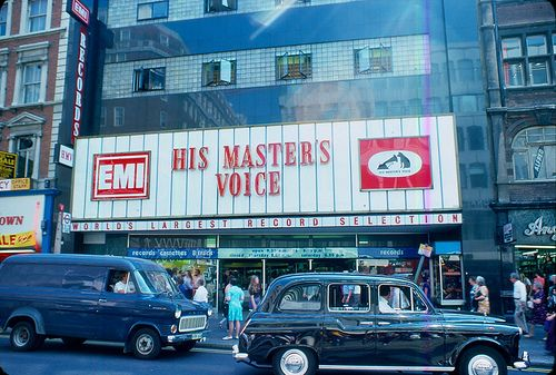 The HMV record shop in Oxford Street. Where I bought most of my record collection.