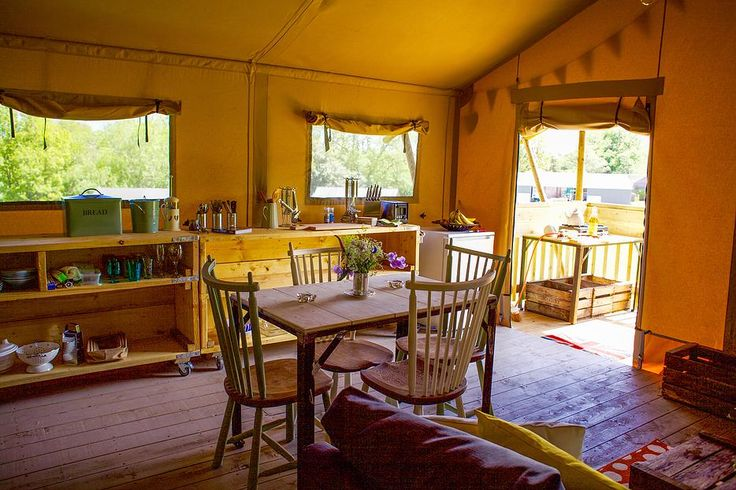Love love the inside of our posh Safari Tents #glamping at its best at Drovers Rest
