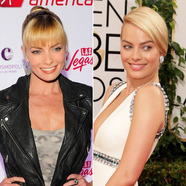 Pin for Later: Ces Célébrités se Ressemblent Comme Deux Gouttes D'eau . . . Mais N'ont Aucun Lien de Parenté Jaime Pressly et Margot Robbie Source: Getty / Steven Lawton, Jeff Vespa