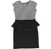 striped peplum dress