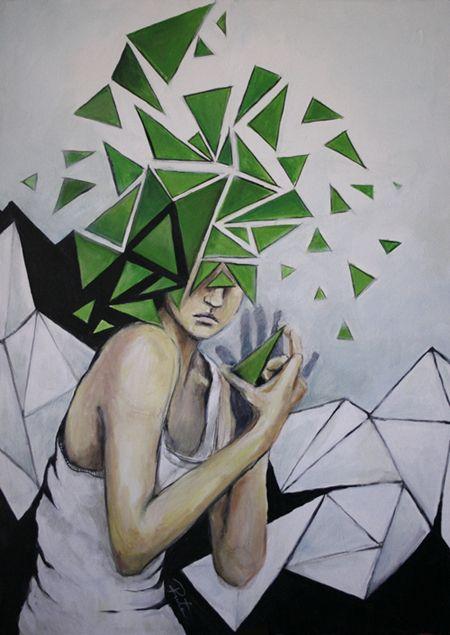 Mind in pieces.  Słów składanie, nie w moim stanie. #painting #juliamarcell #broccoli #alps #art #finearts