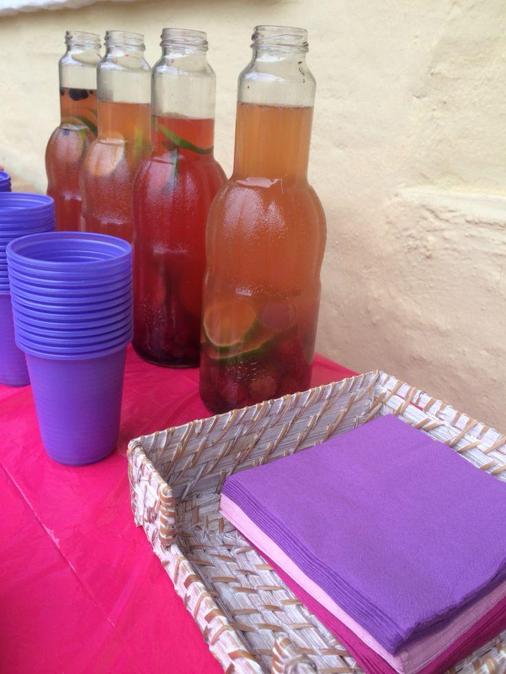 Limonadas de frutos rojos  Mortiño/frambuesa/frutilla/mora