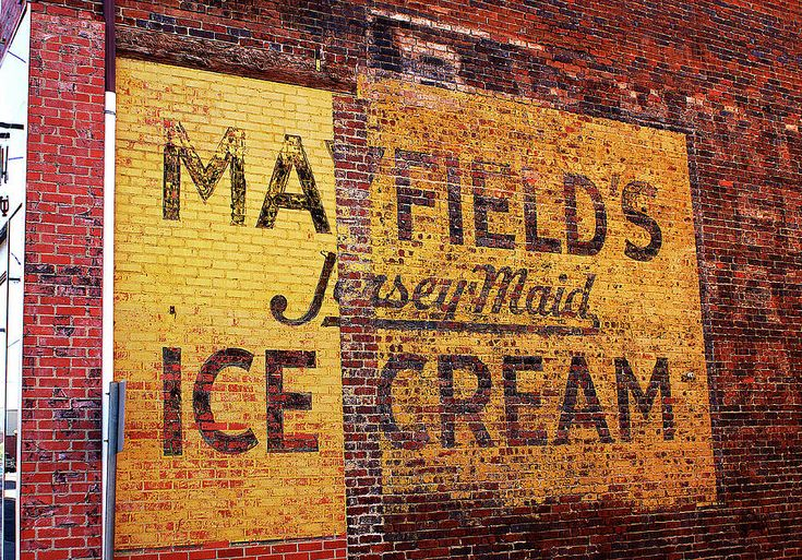 Mayfield's ice cream first and then ...