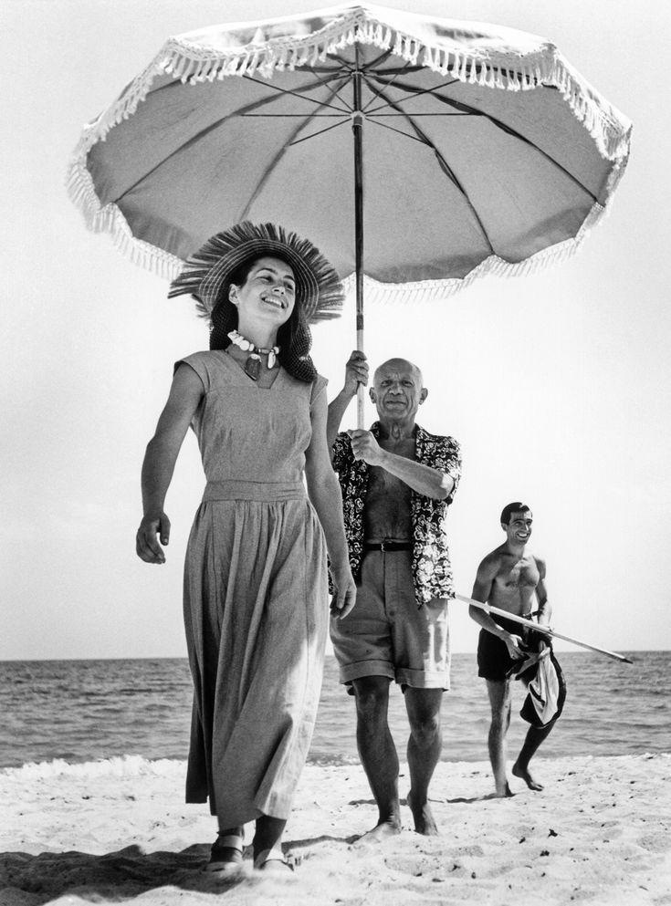 """Robert Capa """"Picasso and Francoise Gillot"""""""