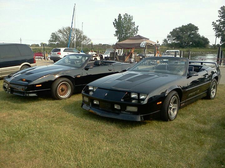 88 Trans Am Gta Convertible And 89 Iroc Z Camaro