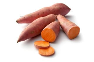 Sweet Potatoes This orange coloured root vegetable with delicious sweet taste and many nutritional benefits is finding its place in Melbourne cuisine. The sweet potato which is obviously a root vegetable has large tubular formation and sweet ta