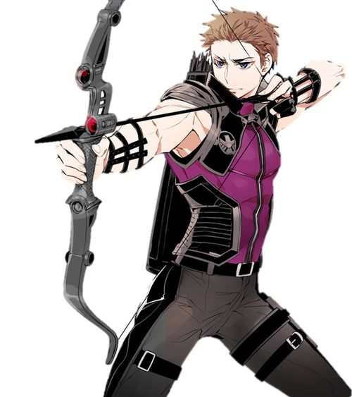 Hawkeye as an anime character. Oh gawd please help me!!!!!