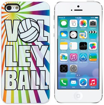 iPhone 5 Vollyball Rainbow Case