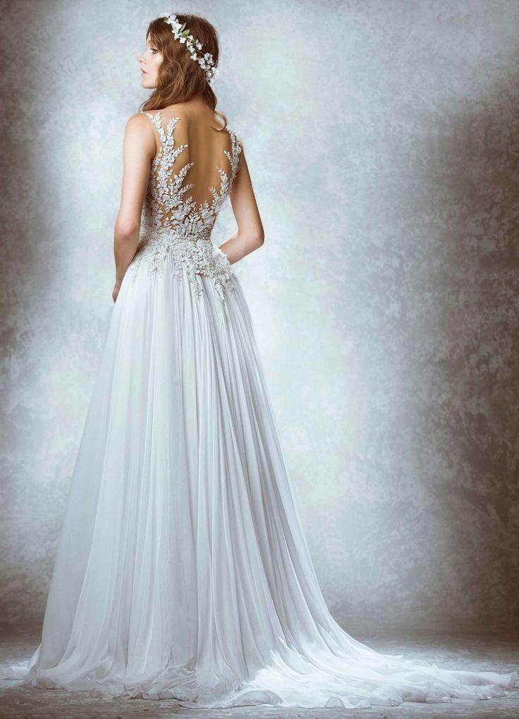 Свадебное платье с открытой спиной Zuhair Murad