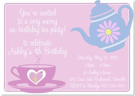 30 best images about 30th Birthday Tea Party Ideas – Little Girl Tea Party Invitations