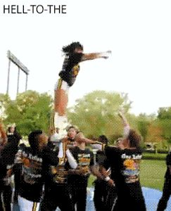 "lajoyofmylife: "" stretch-till-it-hurts: "" cheerinfinite: "" hell-to-the: "" cheer-swagg: "" hell-to-the: "" that is so awesome, i love how she spins so damn fast! "" At first I thought it was sped up and..."