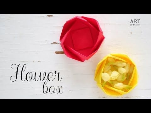 Diy paper flower box origami box paper folding youtube diy paper flower box origami box paper folding youtube mightylinksfo