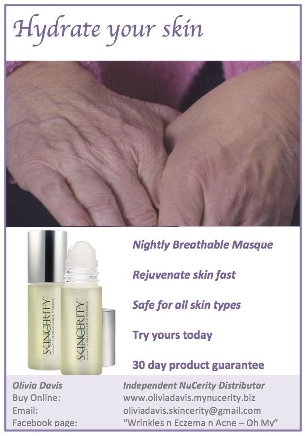 "We all want healthy, radiant skin. Skincerity contains patented technology which allows your skin to heal itself under a breathable masque each night. Acting like a second skin, Skincerity allows oxygen in but doesn't allow moisture out. So you wake up to soft, hydrated and rejuvenated skin in the morning. Its never been so easy to have healthy skin. Follow us on Facebook - ""Wrinkles n Eczema n Acne - Oh My"" Order yours today. From USD $69.95"