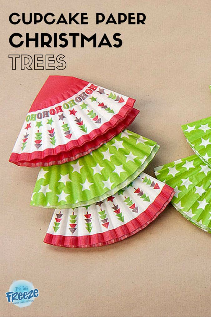 Cupcake Paper Christmas Trees by The Big Freeze - a simple activity to keep your lil' ones busy while you finish your Christmas baking