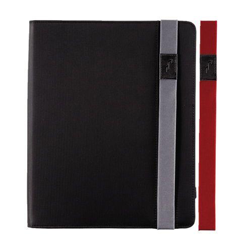 Étui en nylon de Rocketfish pour iPad 2/iPad (3e gén.)/iPad (4e gén.) (RF-PD3NY13) - Noir/Rouge/Gris