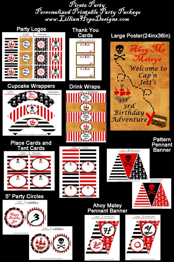 Pirate Birthday Party Boy Pirate Party por LillianHopeDesigns