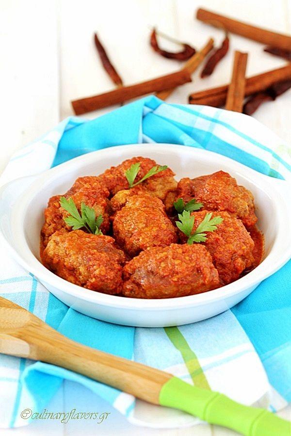 Spicy Meatballs from Smyrna (Soutzoukákia Smyrnéika)