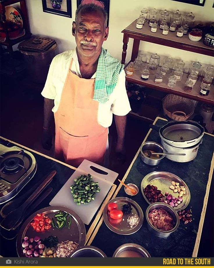 At The Bangala, in the land of the Chettiars, Kishi learnt how to cook Chettinad dishes with the help of Kaurauppiah, who has been serving guests with his amazing cooking skills since the past 52 years.  If you want to win a copy of the well-acclaimed The Bangala Table book - a collection of recipes of authentic Chettinad dishes, head to the galleri5 app and write a cool caption for Kishi's food pics in the 'Postcards to the South' gallery!  #roadtothesouth #foodaholics