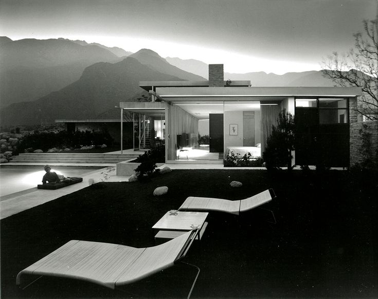 Julius Shulman Photography: Visual Acoustics  Kaufmann House, Palm Springs, CA. 1947,  Architect: Richard Neutra