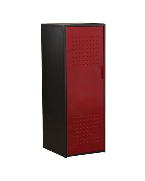 Youth Red Gunmetal Black Metal Garage Cabinet