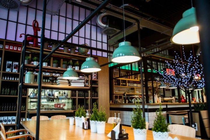 Denk fabrik bar restaurant by gruppo decorativo karlsruhe for Design karlsruhe