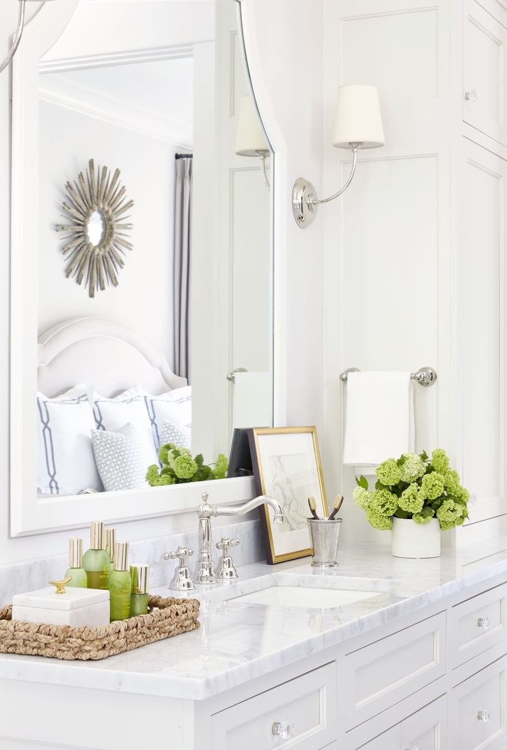 Bathroom mirrors restoration hardware - 25 Best Bathroom Counter Decor Ideas On Pinterest