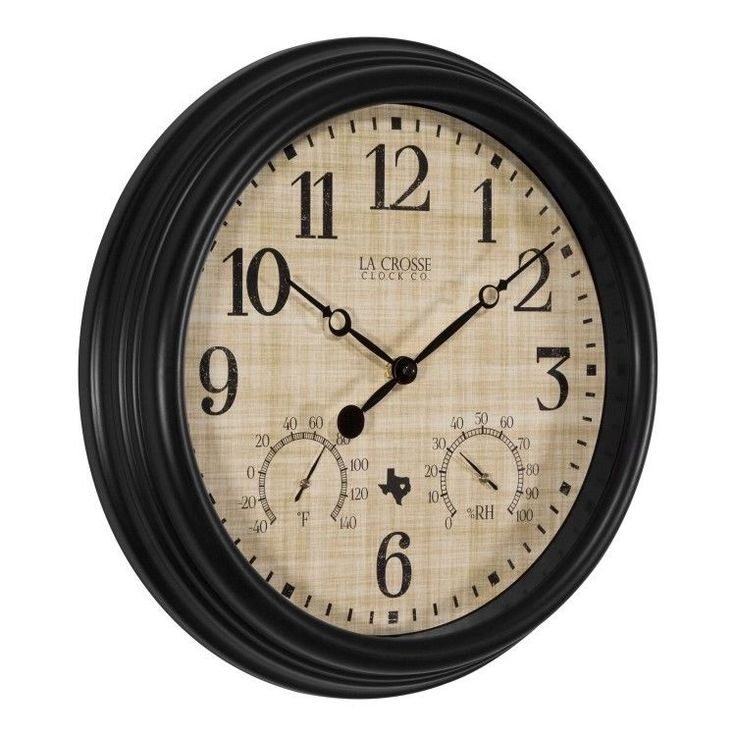 """Indoor #Outdoor #Wall #Clock #Temperature and #Humidity Patio Pool Porch Decor 15""""  #LaCrosseTechnology #Contemporary #ShoppingRay #DanAnnStore"""