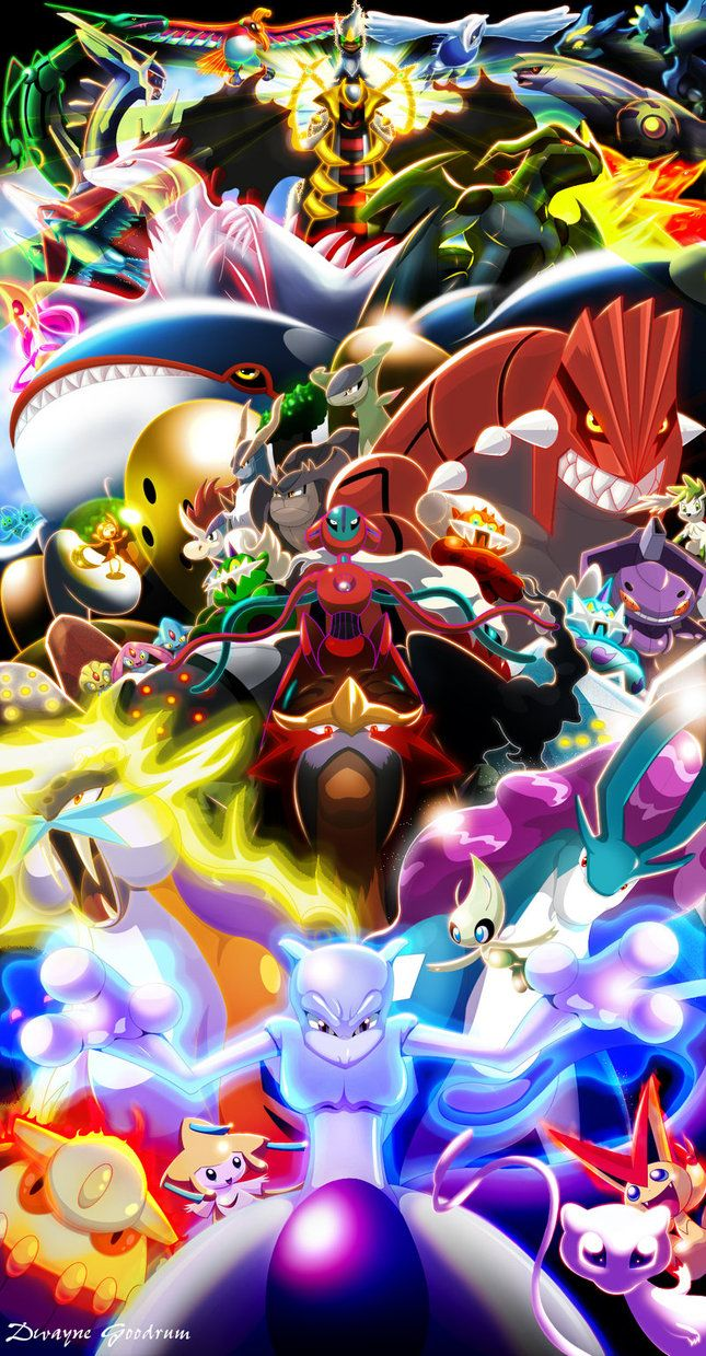 Every Legendary Pokemon (2012) by DMGoodrum on deviantART