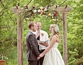Wedding Arbor, rustic and handmade