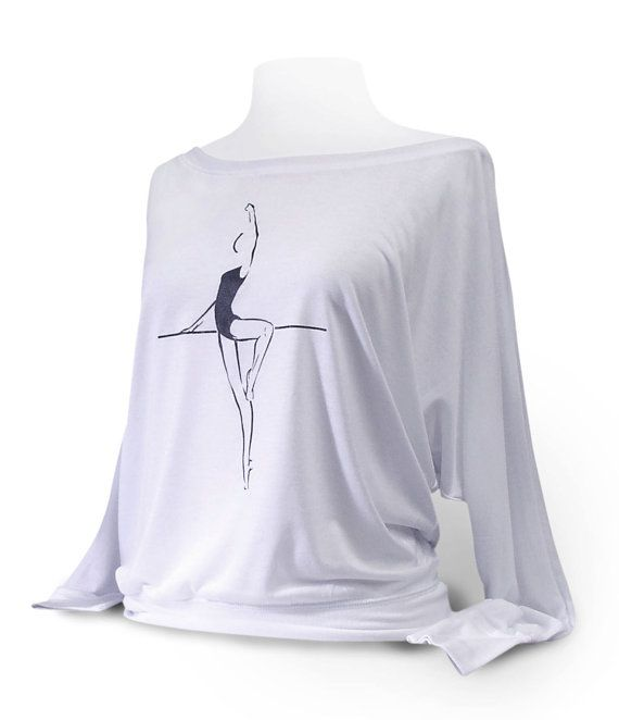 Dolman Long Sleeve Dance Top Passé To Retiré by designer4dance Great with leotard, pointe shoes, warm-up at barre. Would look great on Margot Fonteyn, Anna Pavlova, Darcy Bussel, Martha Graham, Isadora Duncan, or Gillian Murphy.