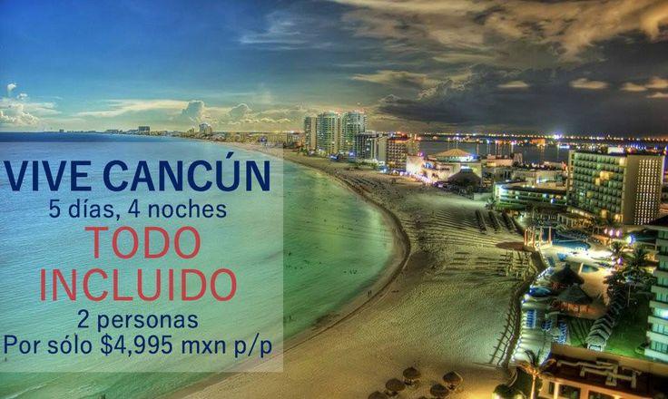 Te han dicho que viajar a #Cancún es carísimo? Nosotros te demostramos lo contrario, disfruta esta bella ciudad por sólo $4,995 pesos por persona. Además pregunta por nuestra promoción de MESES SIN INTERESES. ¿Qué esperas para viajar al destino de playa más visitado de México?