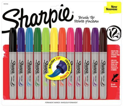 these markers are just about the best invention ever brush tips that allow careful and