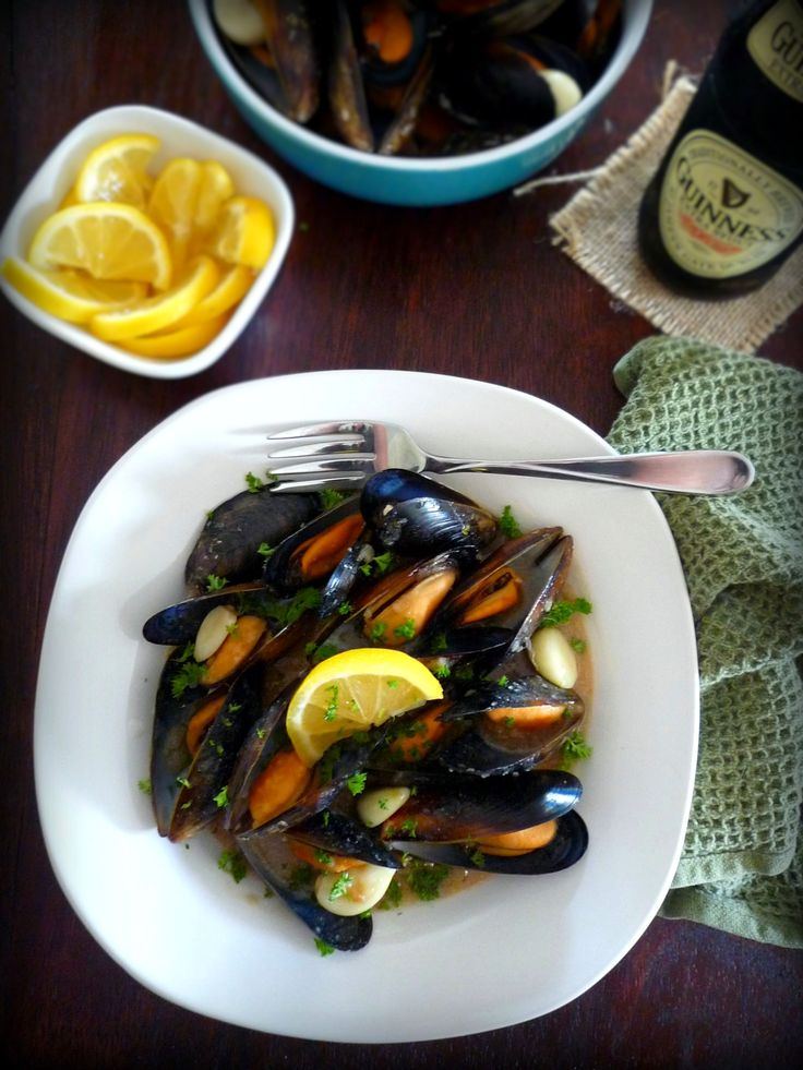 Mussels in Guinness & Garlic Sauce is a wonderful Irish