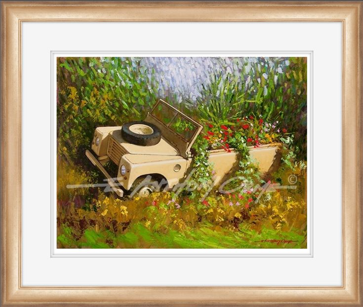 Peace - Hand Signed Fine Art Print by E. Anthony Orme - Gallipoli Gardens - Bury Town Centre - Landrover - Flower display