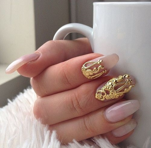 Http Wehear Entry 108220266 Gold Nails Nail Art