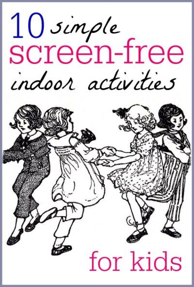 Simple screen free indoor activities for kids that promote independent play. Great ideas for Screen Free Week. (May 5-12)