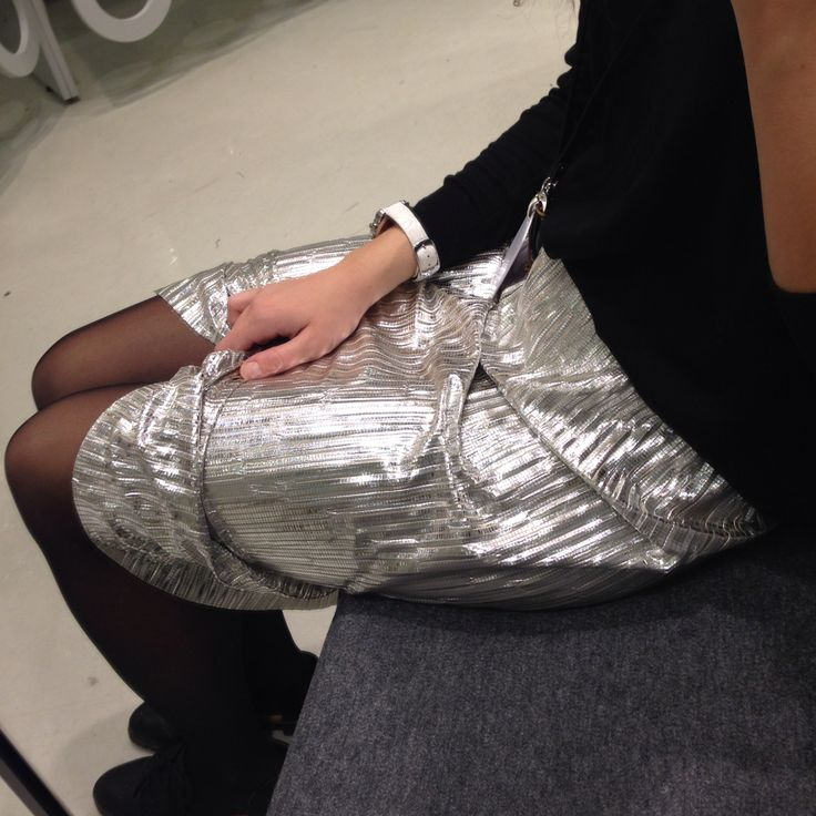 Skirt by Monki glittering silver treasure