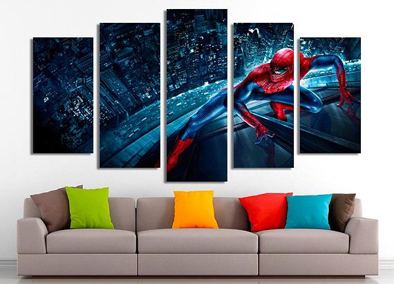 Spiderman poster Marvel print Spiderman print Marvel comics #ad